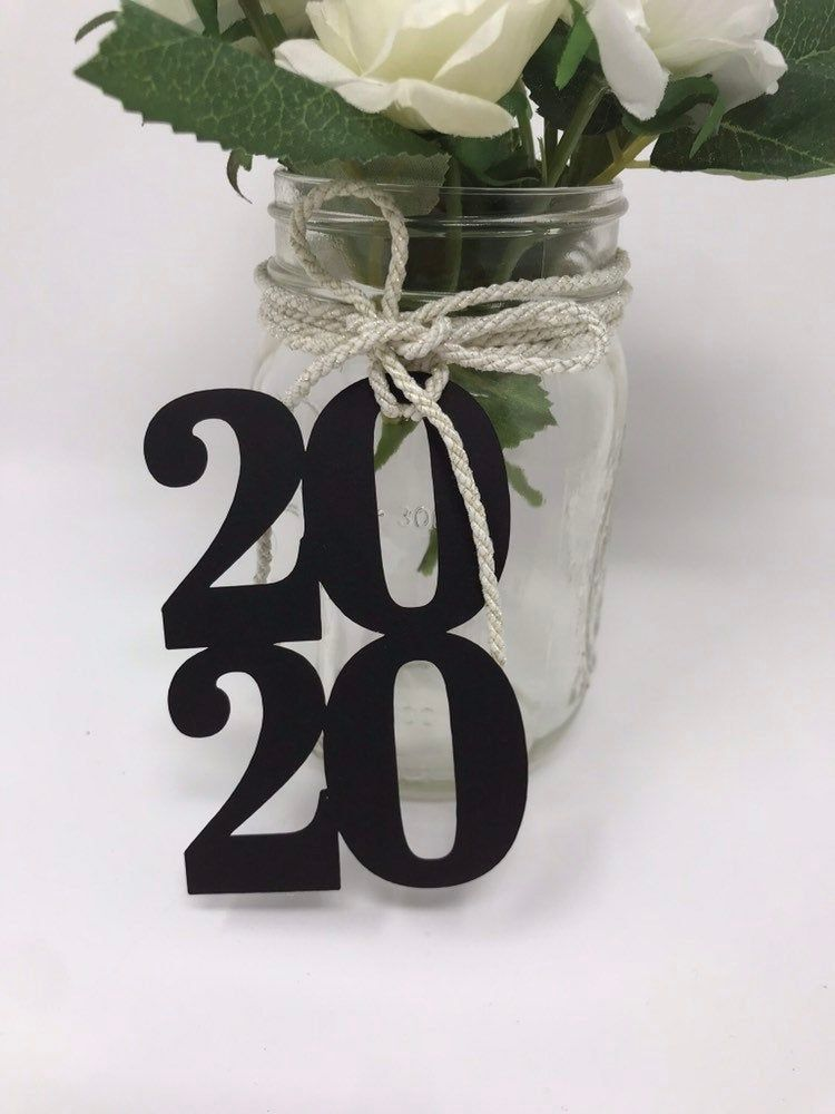 2020 tags, 2020 cut out, Graduation party decorations 2020, Graduation Cut outs, 2020 Mason jar tags , class of 2020, Graduation Decoration
