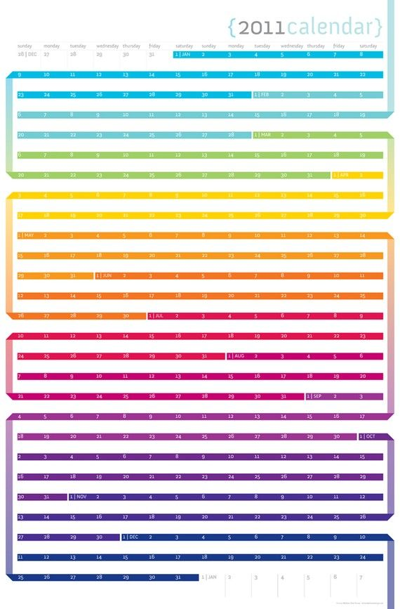 Calendar Typography Life : Last one i promise want them all color my life