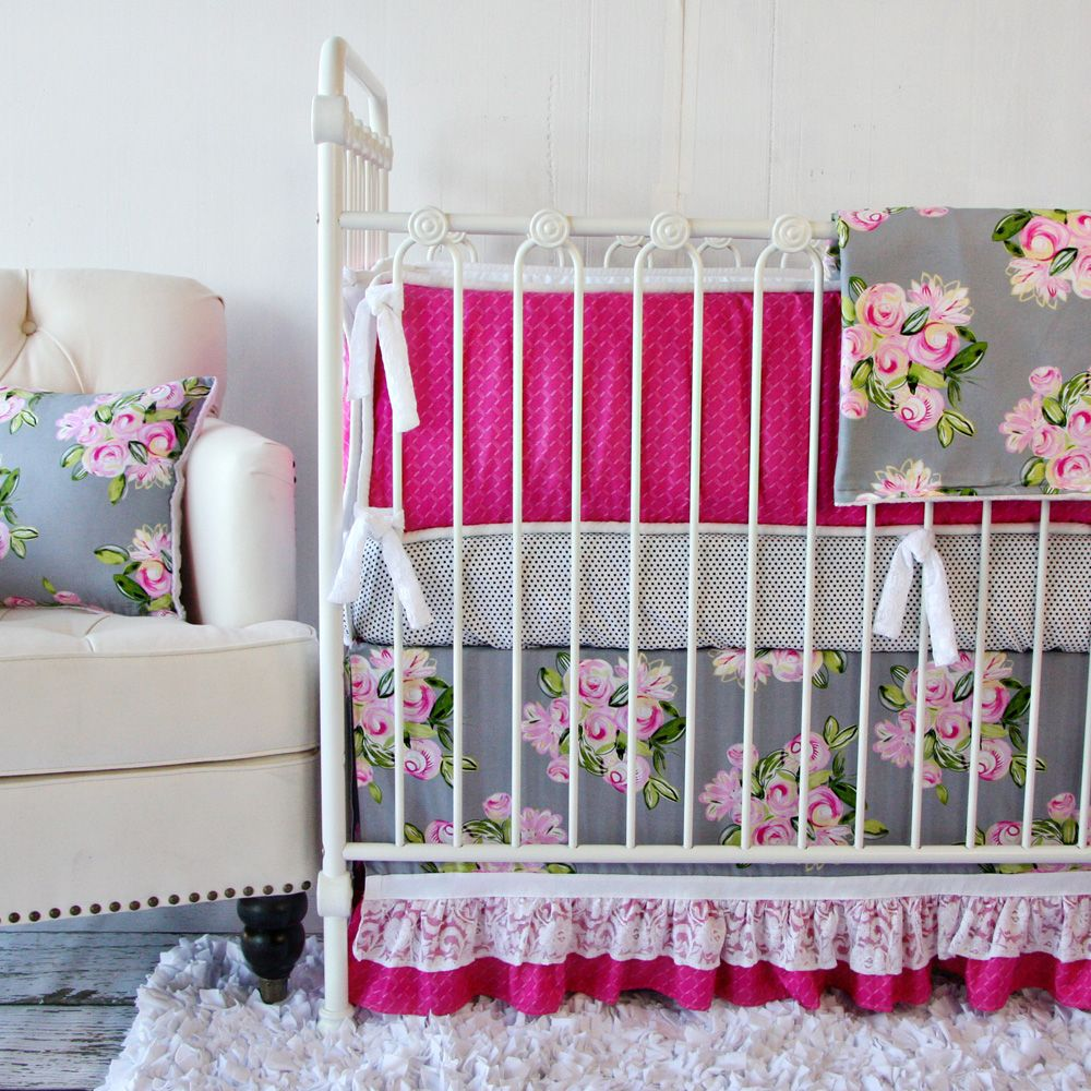 Floral Nursery Bedding Amusing Vintage Floral Crib Bedding Setlike The Idea But Maybe Some Design Inspiration