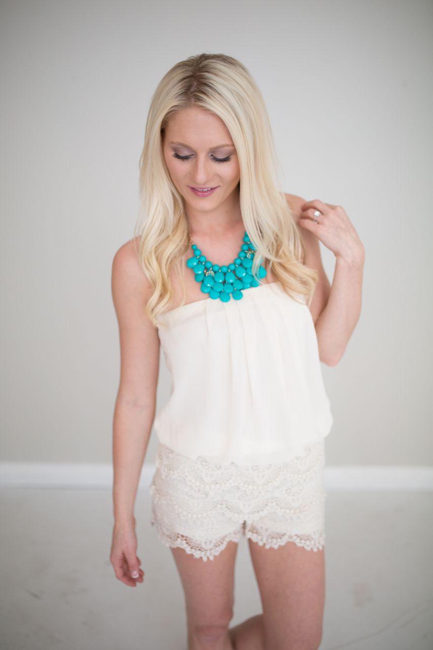 Magnolia Boutique Indianapolis - Lace Romper- Ivory, $19.00 ...