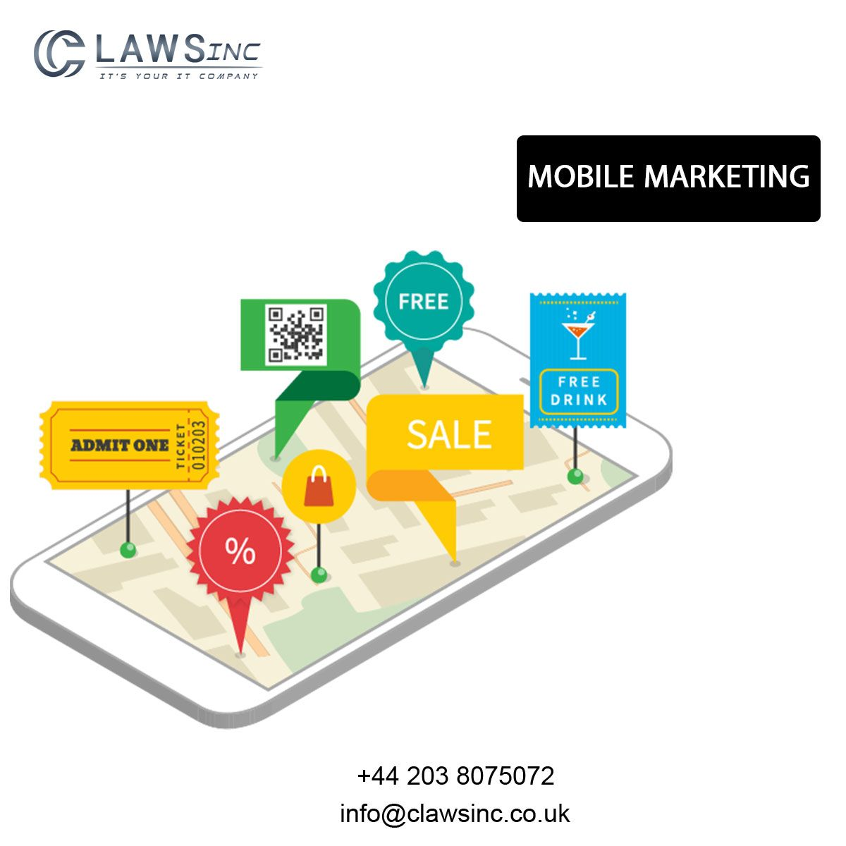 Mobile marketing is multi-channel online marketing technique focused