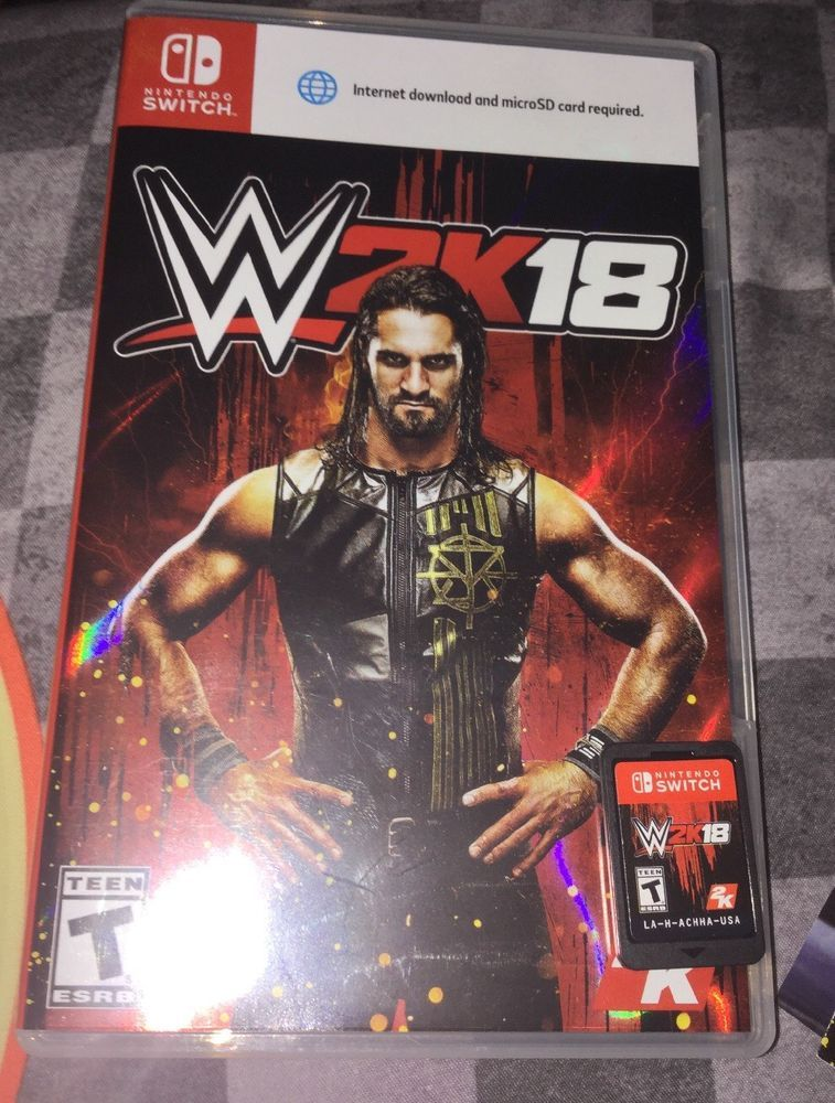 Wwe 2k18 Nintendo Switch Free Shipping Wrestling Game Nxt Wwf Wcw Ecw Ebay Video Game Sales Switch Video Wrestling Games