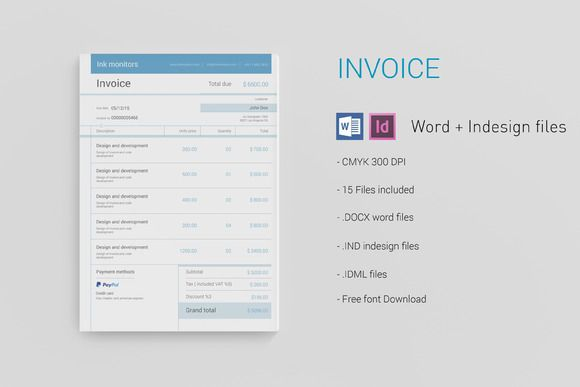 Simple Invoice By Adam Raber On Creative Market  Creative Designs