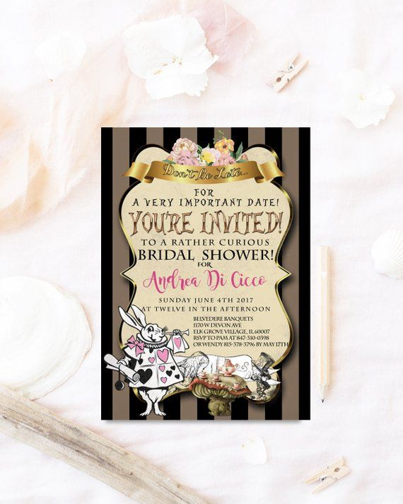 5bceb32308bd Mad Hatter Tea · Bridal Shower Invitations · Alice In Wonderland · Dream  Paperie are exclusively designed by Best Friends Who Design!   Ben