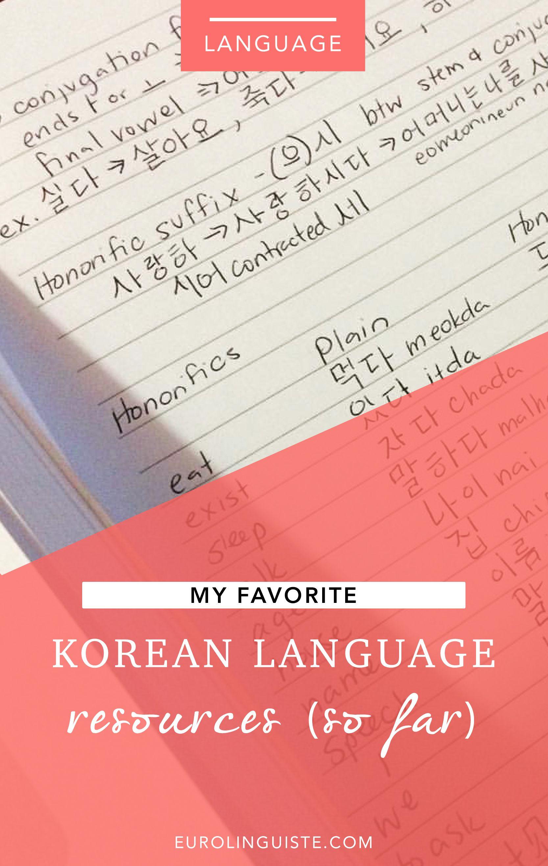 My Favorite Korean Language Resources So Far