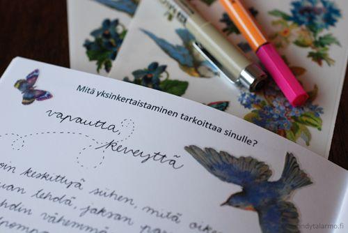 Yksinkertaistamisen tehtäväkirja   www.sandytalarmo.fi