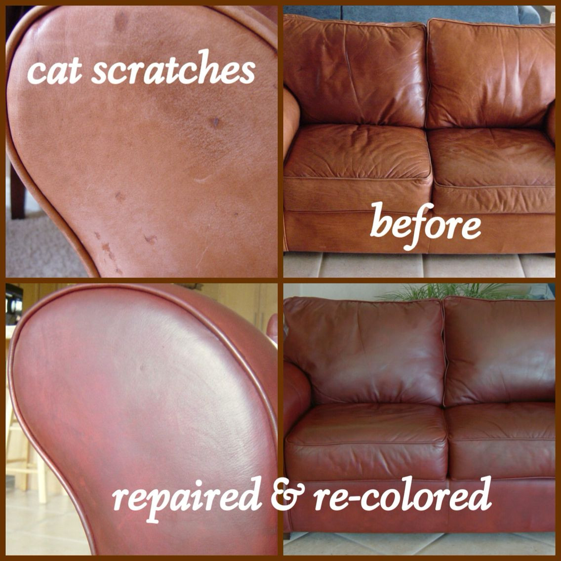 Kathleen Repaired Her Leather With Sandpaper And Super Glue Free
