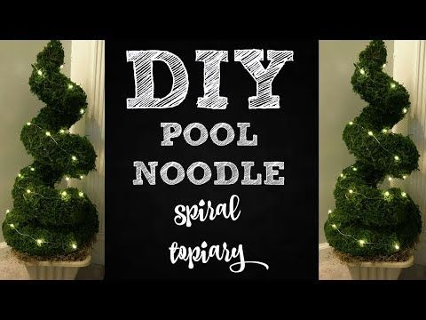 Pool Noodle Spiral Topiary, Dollar Tree DIY » Hildur.K.O