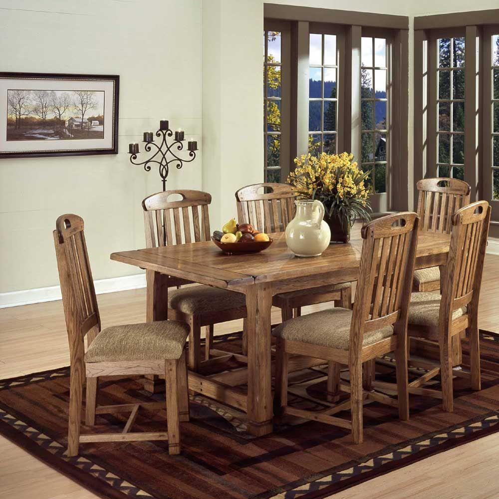 Sunny Designs Furniture: Sedona Collection Rustic Oak 7 ...