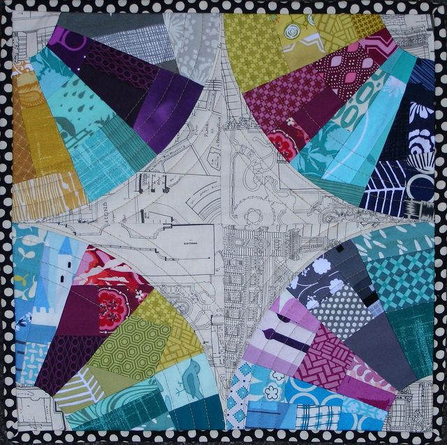 Stained Glass Window--Fab Little Quilt Swap by katie@swimbikequilt, via Flickr