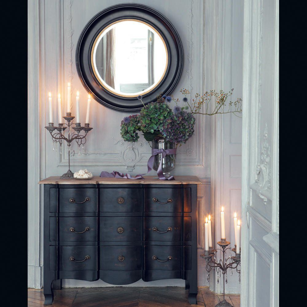 commode en manguier noir vitrine de magasin maison du monde et commodes. Black Bedroom Furniture Sets. Home Design Ideas