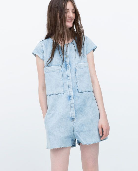 ad05ad085bf6 Image 2 of DENIM JUMPSUIT from Zara