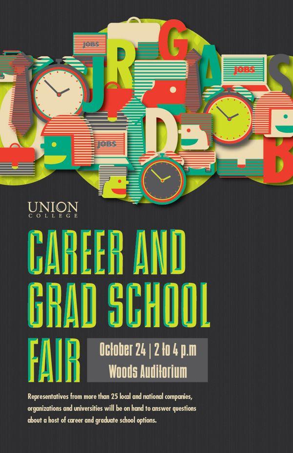 Uc Career Fair Poster On Behance Job Fair Pinterest Internet Marketing College Job