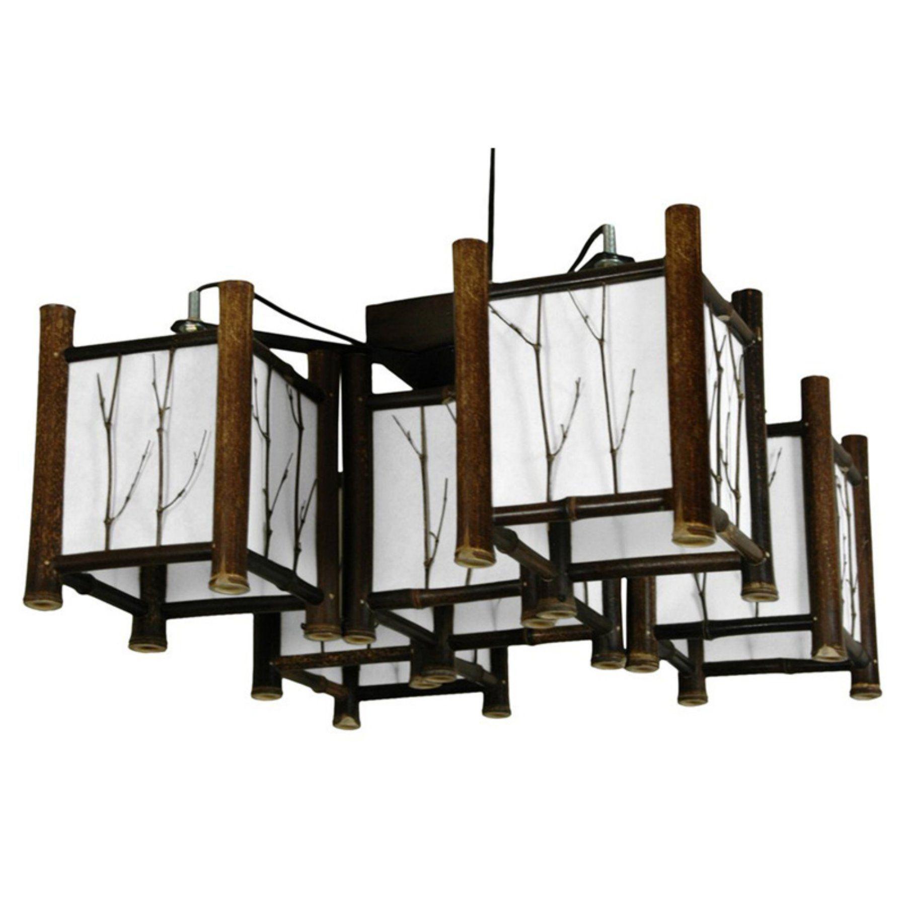 Oriental Furniture Watashi WDLD 007 Japanese Hanging Lantern