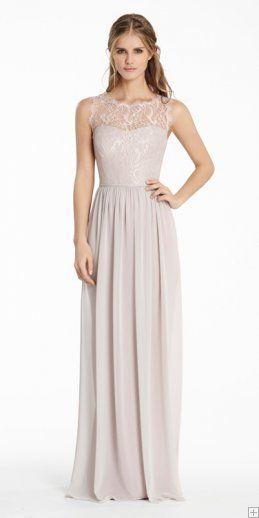 Lace bodice bridesmaid dresses