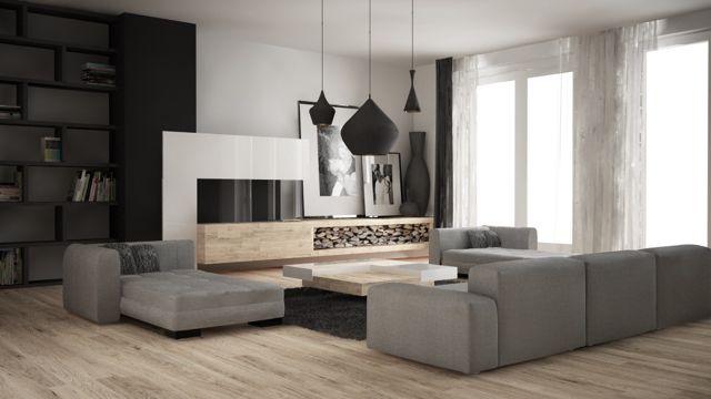 deze prachtige moderne woonkamer bestaat uit diverse, Deco ideeën