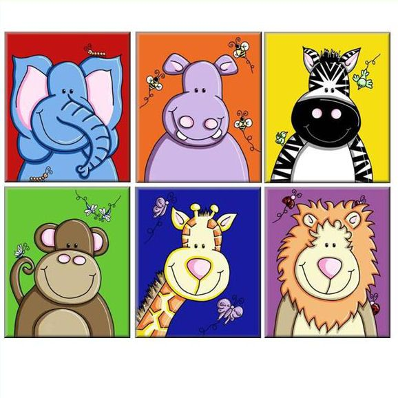 animal canvas prints for children by kids art