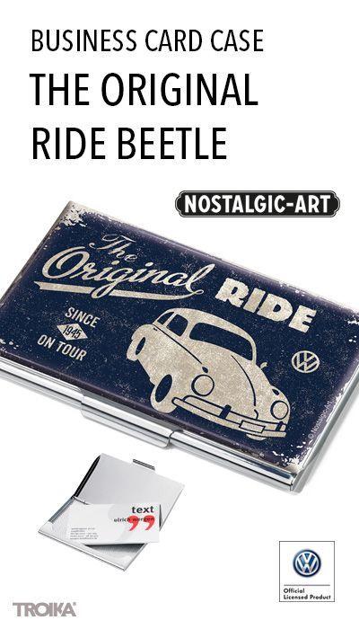 Troika The Original Ride Beetle Business Card Case Flat