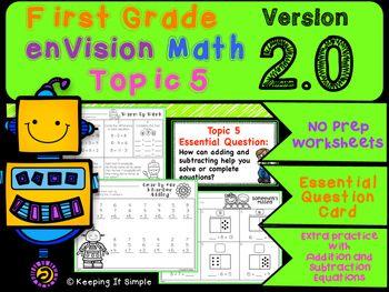 envision math grade 1 topics