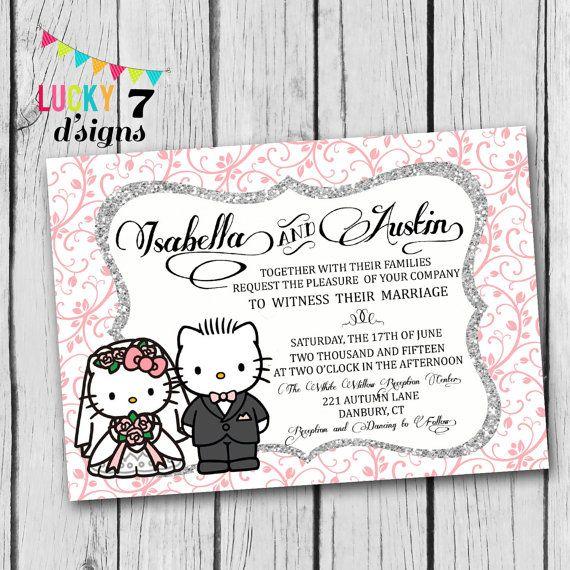 Wedding Venues Near Me Cheap: Gorgeous Hello Kitty And Dear Daniel Wedding Invitation! I