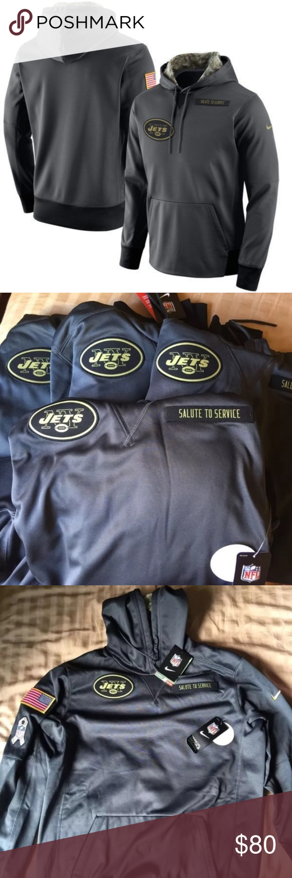 reputable site 2d0c0 5f3d1 Nike New York Jets Salute To Service Hoodie Price Firm. 100 ...