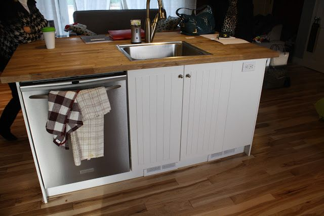 Small Kitchen Island With Sink And Dishwasher Size Is