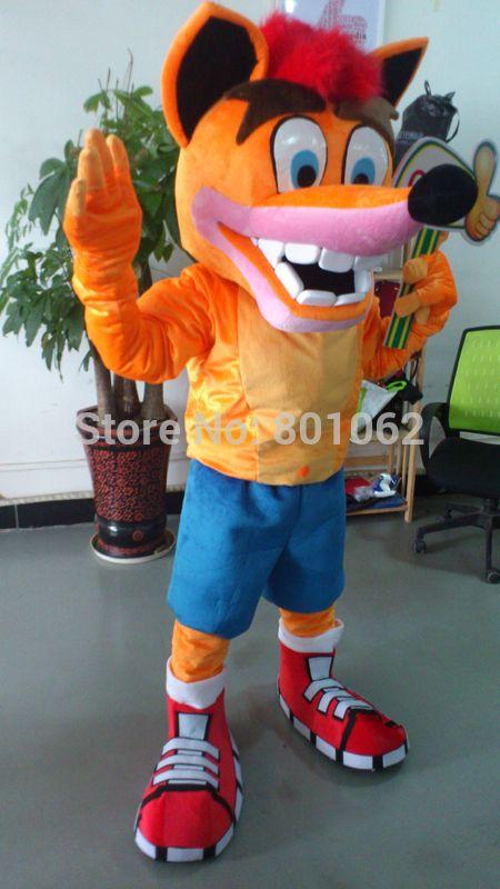 Crash Bandicoot Christmas.Oisk Crash Bandicoot Mascot Costume Halloween Costume