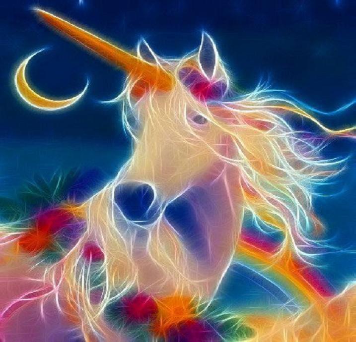 Fractal Unicorns Rainbow Unicorn Art Fractal Licorne Fractal