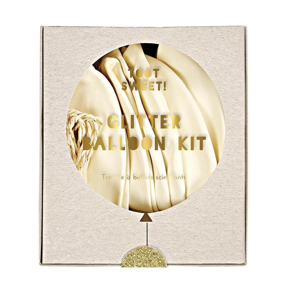 White Balloon Kit Glitter Balloons Balloons Balloon Kits