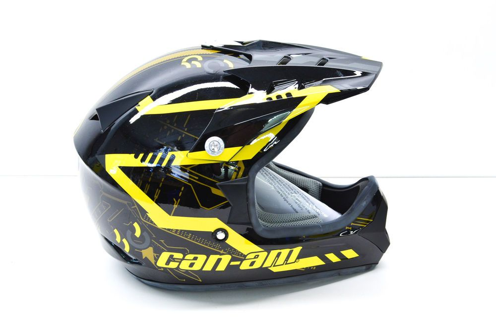 New Oem Cam Am Black X2f Yellow Cross Mission Helmet Large Nos Ebay Motors Parts Amp Accessories Apparel Amp Merchandise Eba Helmet Can Am Atv Black