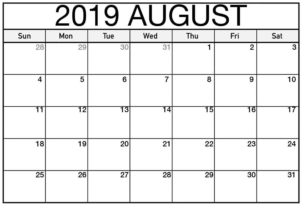 August 2019 Calendar Australia Blank Calendar Calendar Pdf