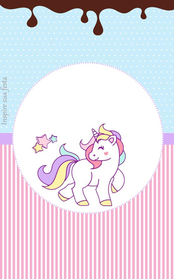 Unicornio Tarjetas Invitaciones Y Etiquetas Para Candy Bar
