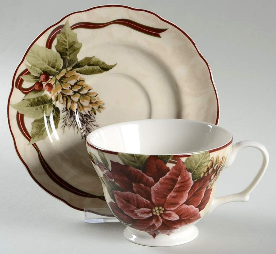 222 fifth yuletide celebration cup saucer 6603534 best for 222 fifth dinnerware