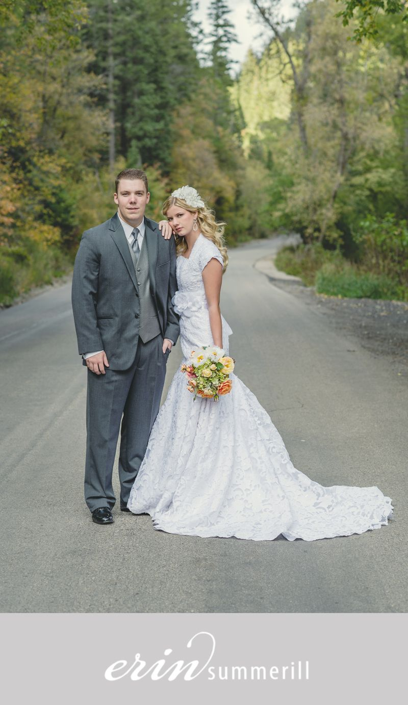 Bridal session in alpine loop sundance engagement pictures