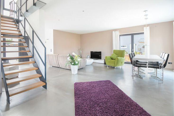 Wohnzimmer  Esszimmer offen mit Treppe - Wohnideen Interior Design - kuche wohnzimmer offen modern