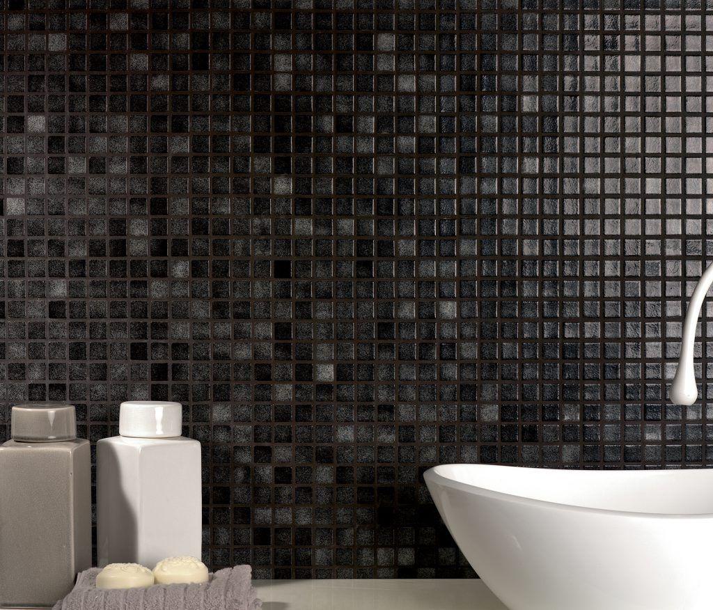 Bagno Mosaico Nero.Rivestimenti Bagno In Mosaico Nero Artigiani365 It Nel