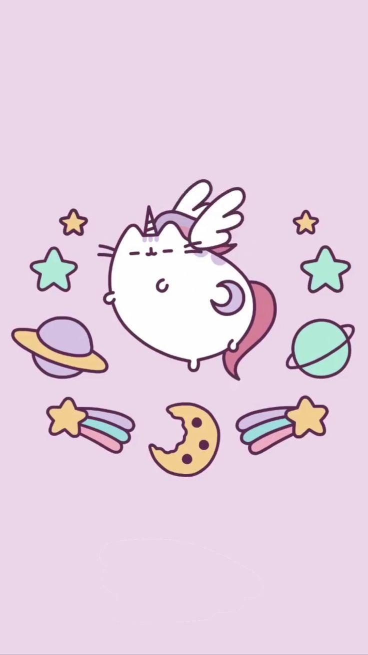 pusheen unicorn wallpaper!! kaiamakaela iPhone X