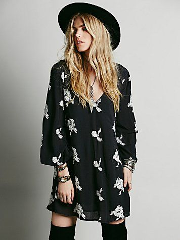 Embroidered Austin Dress