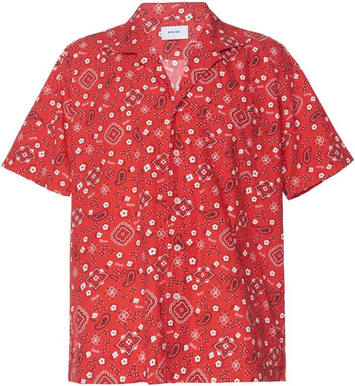 1d830bd0b Rhude Bandana-Print Jersey Hawaiian Shirt | Products in 2019 ...