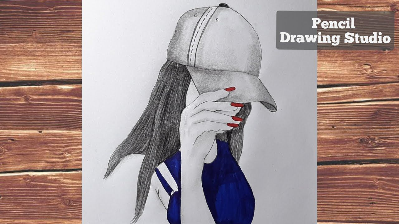 Hidden Face Drawing How To Draw A Girl With Cap Pencil Sketch P In 2020 Pencil Drawings Face Drawing Drawings