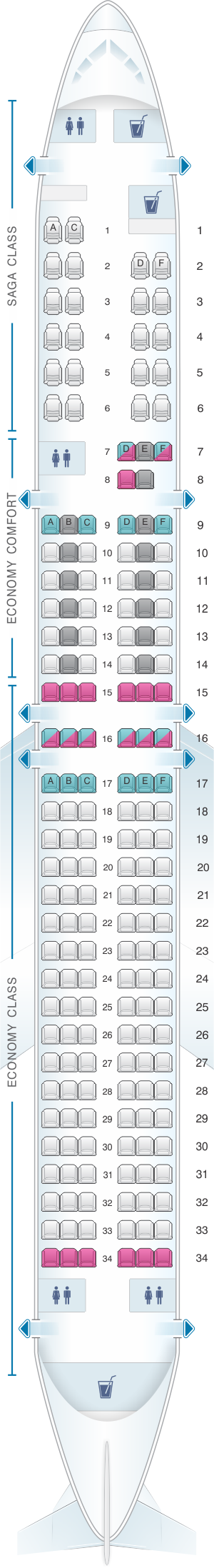 Seat map icelandair boeing  also pinterest airplanes rh