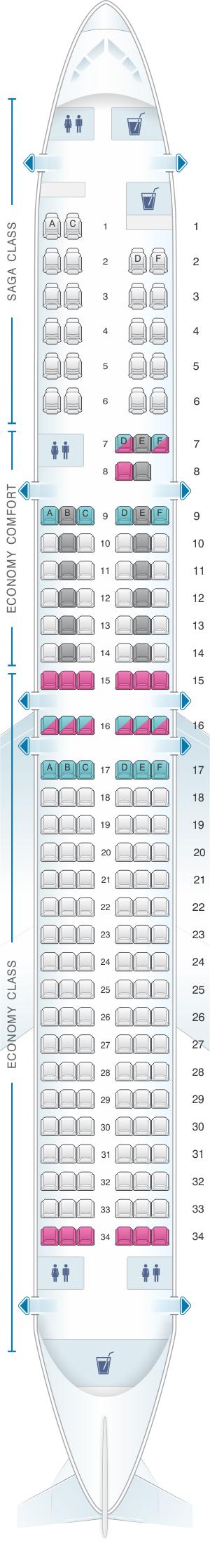 Seat map icelandair boeing  also pinterest airplanes rh