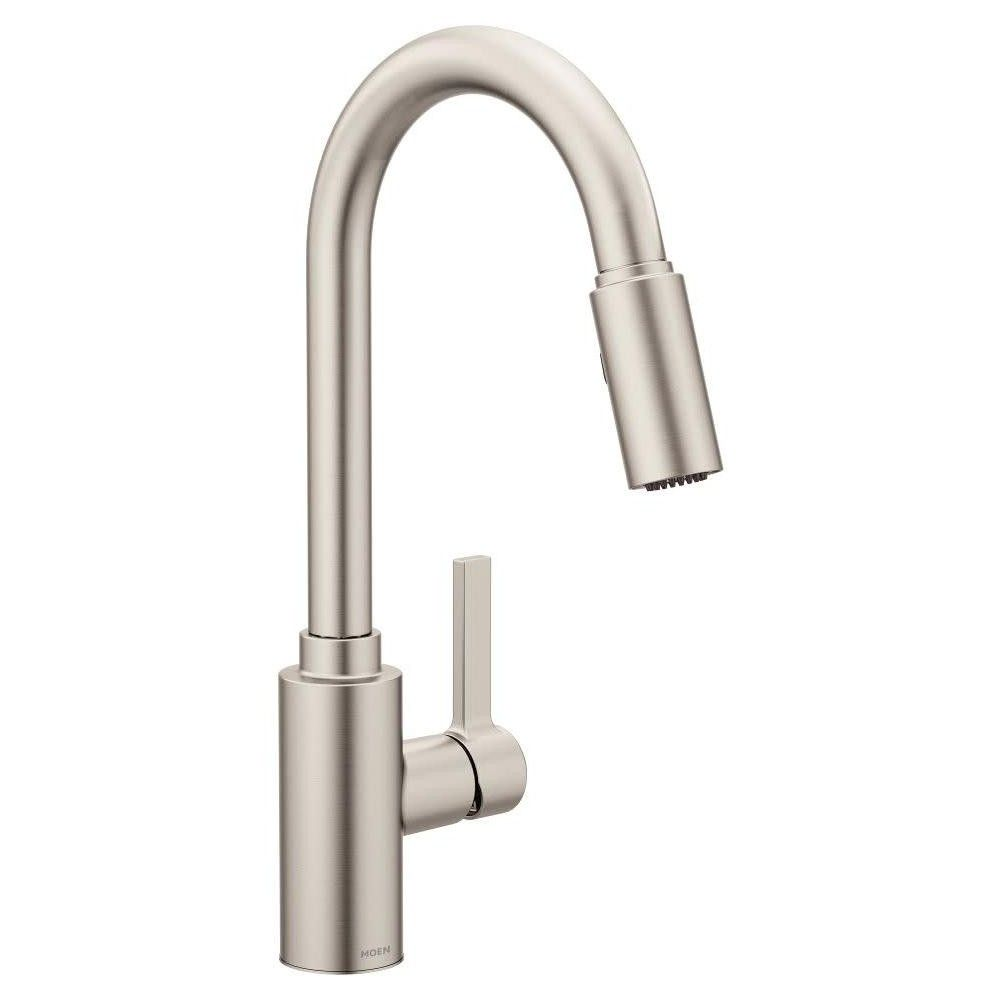 Moen 7882 Genta Pull Down Spray Kitchen Faucet With Powerclean