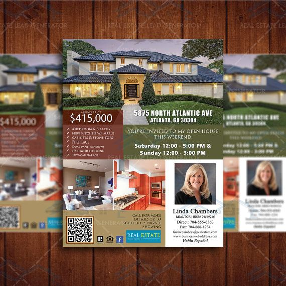 New Listed Realtor Brochure Custom Flyer By Creativeetsydesigns