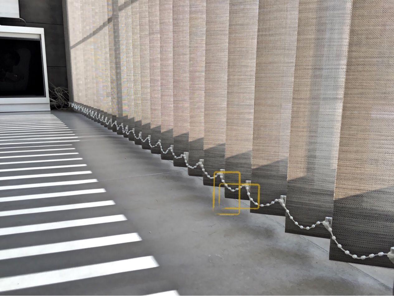 Cortina vertical con tejido ibiza 380 bicolor #cortinas #solart ...