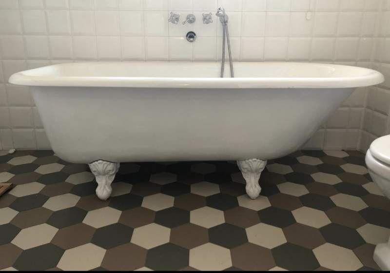 Vasca Da Bagno Ghisa : Vasca da bagno in ghisa old lavande bleu provence