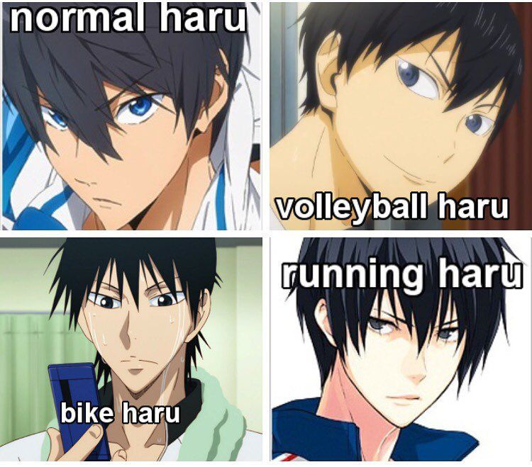 """Land Of The Meme Loving Fucks on Instagram: """"And they're all fucking prodigies in their sports??!!!! Like THEY ALL THE SAME #free #haikyuu #yowamushipedal #princeofstride"""""""