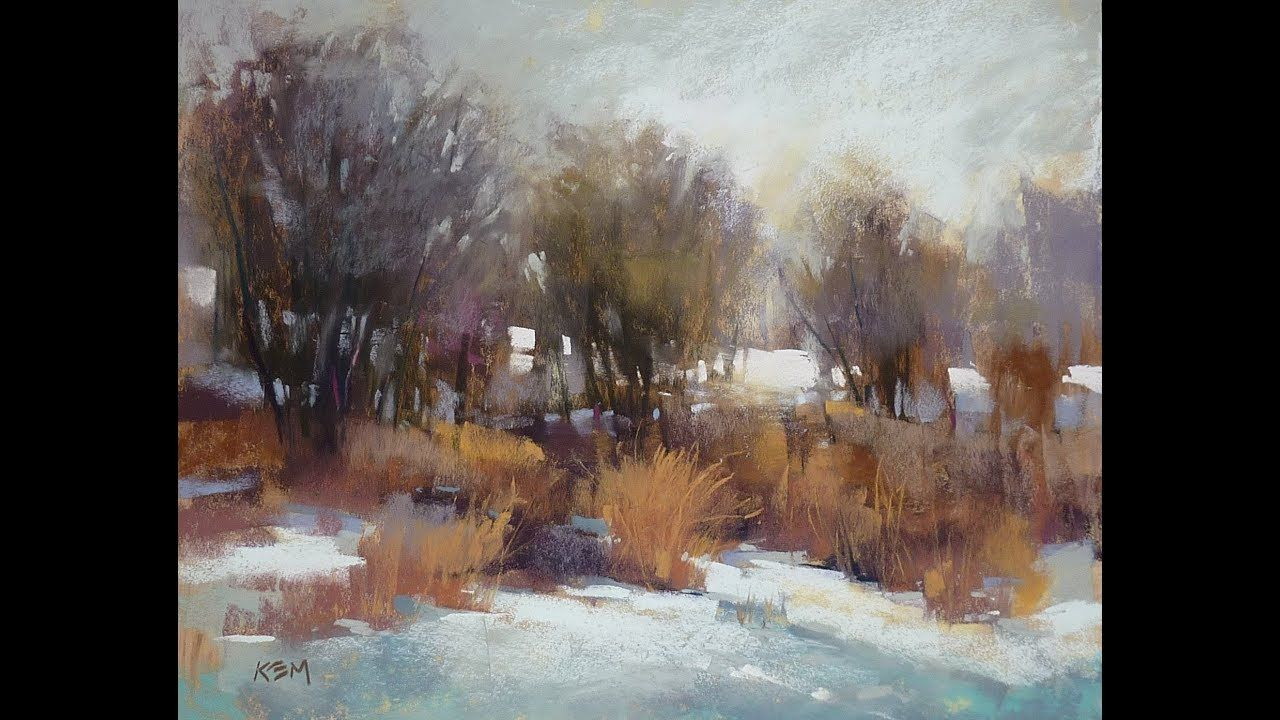 Painting a Winter Landscape in Pastel in 2020 Pastel