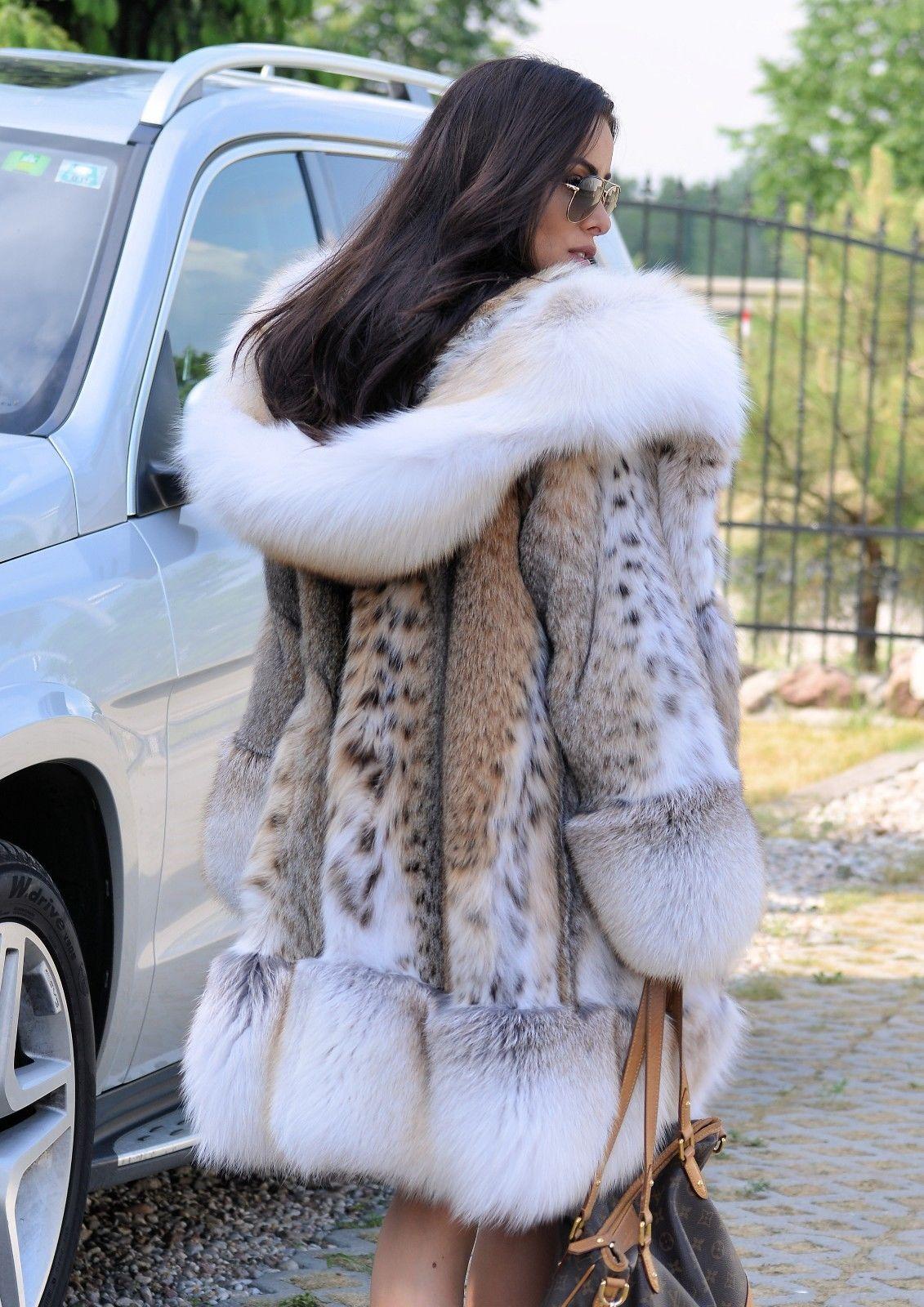 ef0dd113f8 NEW 2018 LYNX FUR COAT HOOD FOX CLASS- RUSSIAN SABLE JACKET MINK CHINCHILLA  LONG | eBay