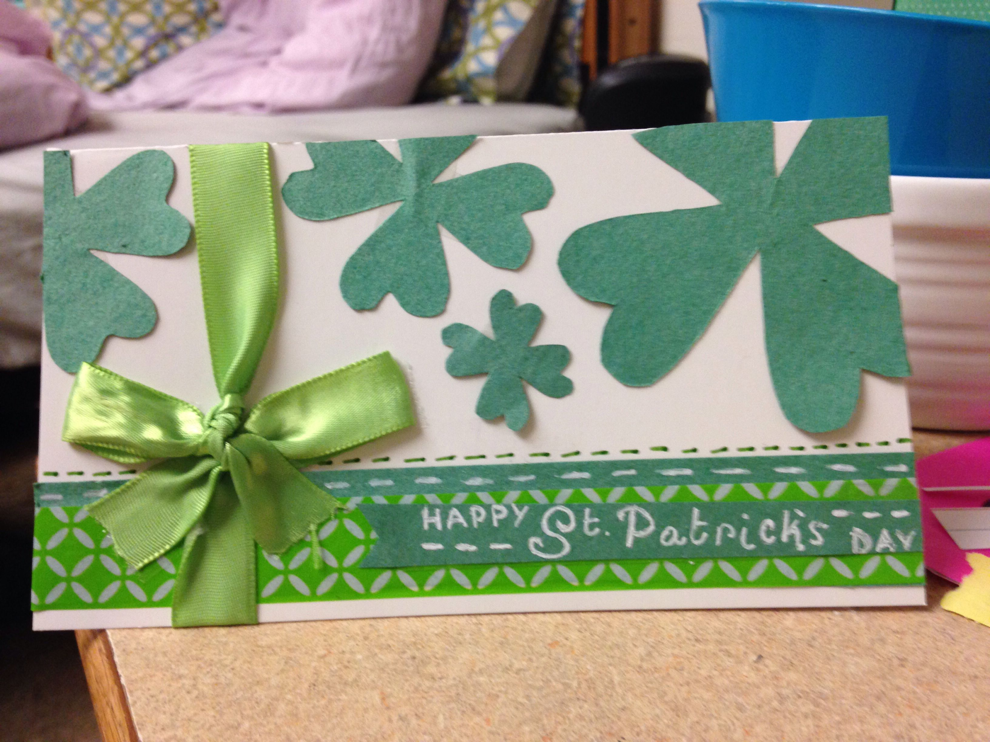 A st pattys day card i made happy st patricks day st
